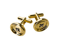Golden cufflinks Stock Photo