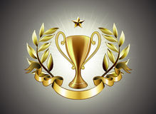 Golden cup Royalty Free Stock Photo