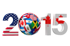 Golden Cup 2015 Canada and USA. Concept Royalty Free Stock Images