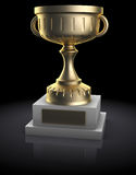 Golden cup Royalty Free Stock Photography