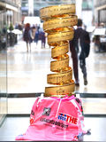 Golden cup of Giro d'Italia Royalty Free Stock Image