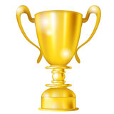 Golden cup icon Stock Photography