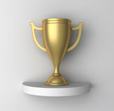 Golden Cup on a shelf Royalty Free Stock Photos