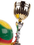 Golden cup and ball Stock Photos