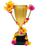 Golden cup trophy Royalty Free Stock Photography