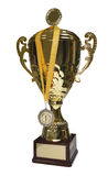 Golden cup trophy with path Royalty Free Stock Photo