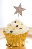 Golden Cupcake Stock Image