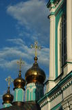 Golden cupola. Cupola of one of Moscow churches Royalty Free Stock Photography