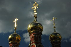 Golden cupola. Cupola of russian church Stock Images