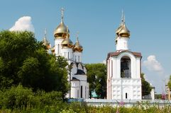 Golden cupola. Vintage monastery, Pereslavl'-Zalesskiy, Russia royalty free stock images