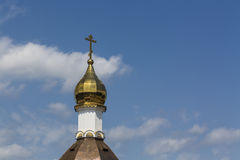 Golden cupola of orthodox church Royalty Free Stock Photography