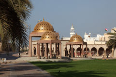 Golden cupola pavilions, Oman Stock Photography