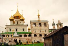 Golden cupola of Resurrection Monastery in Uglich, Russia. Royalty Free Stock Photos