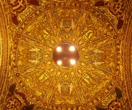 Golden cupola of st Paul church Stock Image