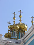 Golden cupolas. On the sky Royalty Free Stock Images