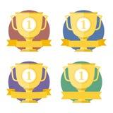Golden Cups Stock Photos
