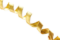 Golden curls ribbons Royalty Free Stock Image