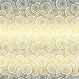 Golden curls seamless pattern Royalty Free Stock Photo