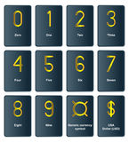 Golden currency symbols - the number of Royalty Free Stock Photography