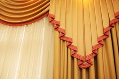 Golden curtain Stock Photos