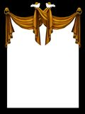 Golden curtain Royalty Free Stock Images