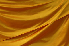 Golden Curtain. At a Buddhist temple in Thailand Stock Image