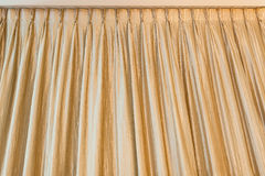 Golden curtain on ceiling Royalty Free Stock Photography