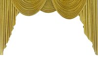 Golden curtain Stock Images