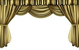 Golden curtain Stock Image
