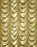 Golden curtains Stock Photography
