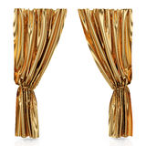 Golden curtains Royalty Free Stock Photography
