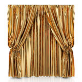 Golden curtains Stock Photos