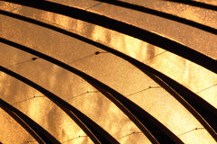 Golden curves abstract Stock Photos