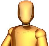 Golden cyborg astronaut robot Stock Photo