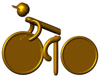 Golden cyclist Royalty Free Stock Photos