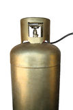 Golden cylinder with LPG Stock Photos