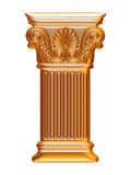 Golden 3d column Royalty Free Stock Photo