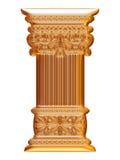 Golden 3d column Stock Image