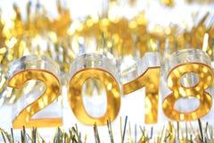 Golden 2018 3d digital icon stock image