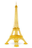 Golden 3d Eiffel tower Royalty Free Stock Photography