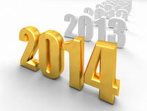 Golden 2014 Royalty Free Stock Image