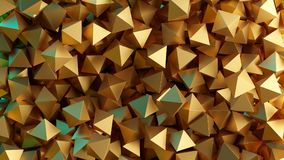 Golden 3D pyramids. Illustration. Abstract background. Golden 3D pyramids. Rendered illustration. Abstract background Stock Photography