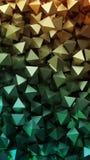 Golden 3D pyramids. Illustration royalty free illustration