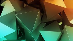 Golden 3D pyramids. Illustration. Abstract background. Golden 3D pyramids. Rendered illustration. Abstract background Stock Image