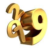 2019 golden 3d rendering symbol. Illustration image design Royalty Free Stock Photos