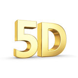 Golden 5D symbol isolated on white Stock Image