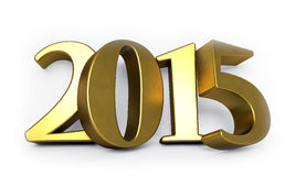 Golden 3D 2015 year figures Stock Image