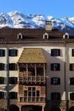 Golden Dachl balcony in Innsbruck Stock Images