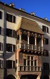 Golden Dachl balcony in Innsbruck Royalty Free Stock Photography