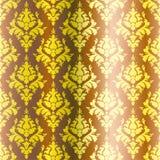 Golden Damask pattern Stock Photography